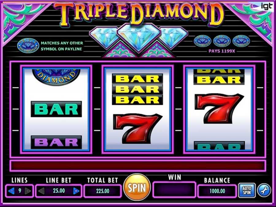 tragamonedas triple diamond